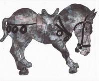 Harris Horse Artist Rendering